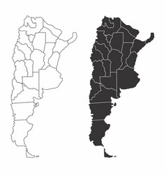 argentina provinces maps vector image