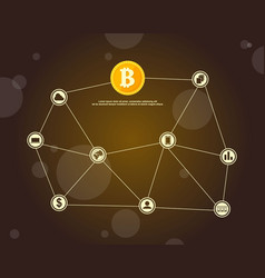 background block chain style collection vector image