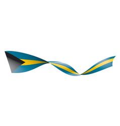 Bahamas flag on a white vector