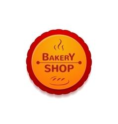 Bakery shop label vector
