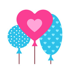 balloons with hearts vector image