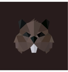 Beaver logos modern styles polygonal vector image