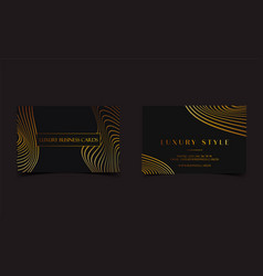 Black gold luxury business cards for vip event vector