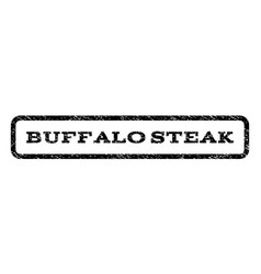 Buffalo steak watermark stamp vector