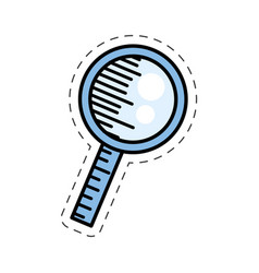 Cartoon search loupe discovery image vector