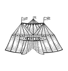 circus tent engraving vector image