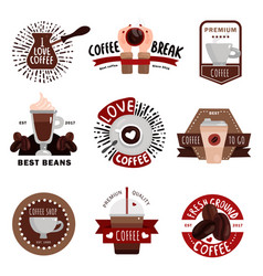 Coffee production emblems vector