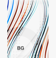 color stripes wave lines modern geometric vector image