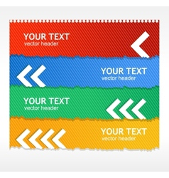 Colorful text boxes vector