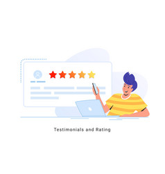 consumer review for comment and rate a service or vector image