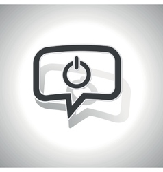 Curved power message icon vector