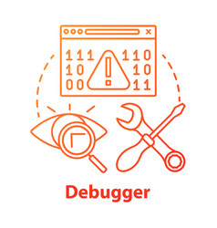 Debugger concept icon debugging tool testing and vector