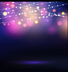 decorative string lights vector image