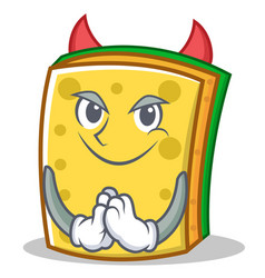 Devil sponge cartoon character funny vector