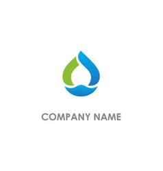 droplet bio abstract logo vector image