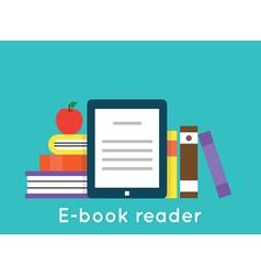 E-book reader and modern education technology vector