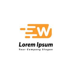 Fast letter w logo icon design vector
