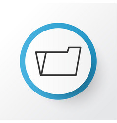 file folder icon symbol premium quality isolated vector image