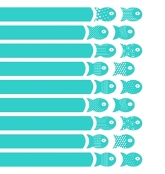 Fishes moving concept for fabric textile design vector