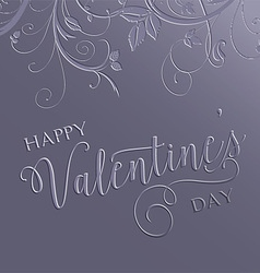 floral valentines day background 0601 vector image