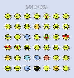 Funny emotion icons vector