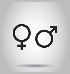 gender sign icon on isolated background business vector image