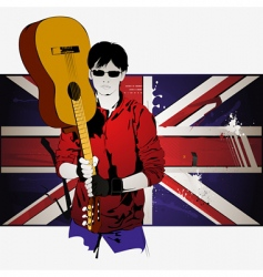 Guy with guitar vector