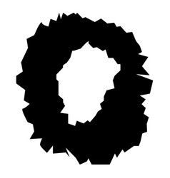 Hole in the surface icon black color flat style vector