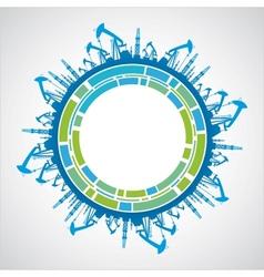 Industrial earth sphere vector image