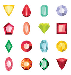 Jewels set in cartoon flat stile vector