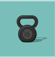 Kettlebell icon isolated on background vector