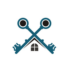 key home real estate logo vector image