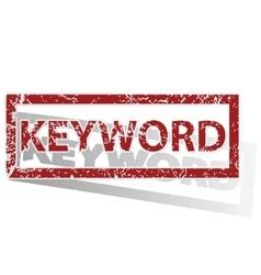 KEYWORD outlined stamp vector