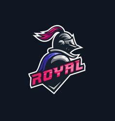 Knight logo esport vector