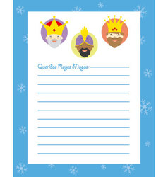 Letter to the three kings of orient vector image