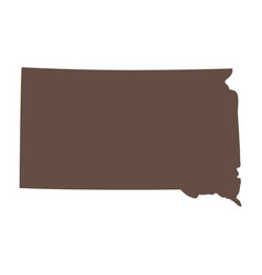 map of the us state of south dakota vector image