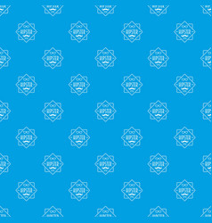men hipster style pattern seamless blue vector image