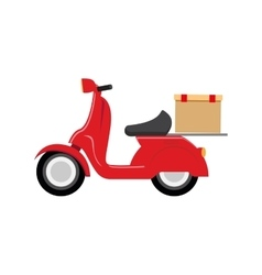 Motorcycle speed delivery box vector