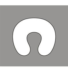 Neck pillow vector