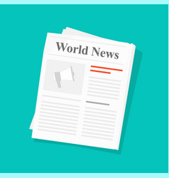 newspaper or daily press news paper folded vector image
