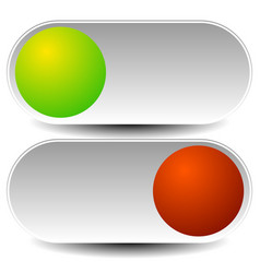 On off buttons power switches vector