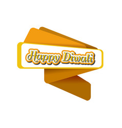 origami banner for diwali trendy origami vector image