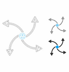 Out swirl direction mesh network model and vector