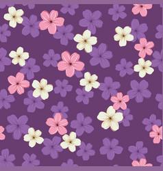 Pattern with sakura flowers vector