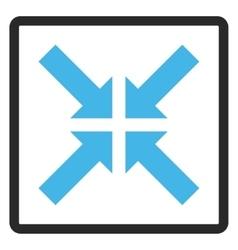 Pressure Arrows Framed Icon vector
