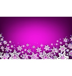 Purple winter background with snowflakes vector image vector image
