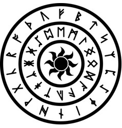ring with runes vector image