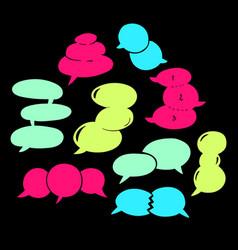 Round speech bubbles-06 vector