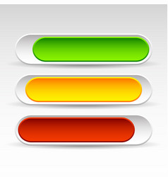Rounded horizontal power buttons sliding on off vector