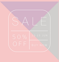 sale template design vector image